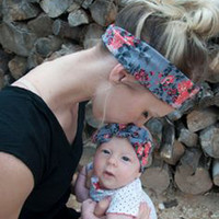 Mom and Me Headband With Knit Fabric Baby Girl Headband Mommy and me Matching Headbands Photo Prop Gift for Mom and Baby 1Set