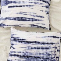 Shibori Streak Jersey Pillowcase Set