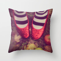Dorothy Wizard of Oz Throw Pillow by AndreaClare