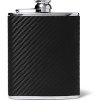 Alfred Dunhill - Chassis Leather and Stainless Steel Hip Flask | MR PORTER