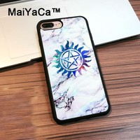 MaiYaCa Supernatural Symbols In Marble Back Cover Case for iphone 7 Plus TPU Phone Case Accessories For Apple iphone 7 Plus