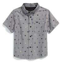 Toddler Boy's Hurley 'Locals Only' Short Sleeve Woven Shirt