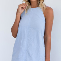 STILL FIELDS DRESS (BLUE)