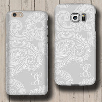 Floral Damask grey iPhone 6s case iphone 6s case iphone 6 case iphone 5s case iphone 5c case galaxy note 5 case Galaxy S6 Edge Plus case