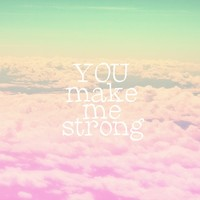 YOU MAKE ME STRONG Stretched Canvas by SUNLIGHT STUDIOS Monika Strigel   Society6