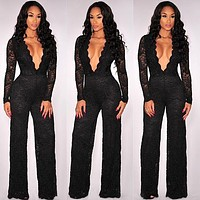 women jumpsuit nightclub jumpsuit sexy lace Jumpsuit