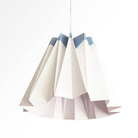 Jelly / Origami Paper LampShade - Blue and White