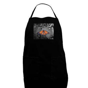 Monarch Butterfly Photo Dark Adult Apron