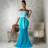 Progressive Color Mermaid Dress