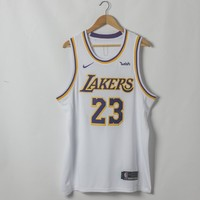 Men's Los Angeles Lakers LeBron James Nike White 2018/19 Swingman Jersey - Icon Edition - Best Deal Online