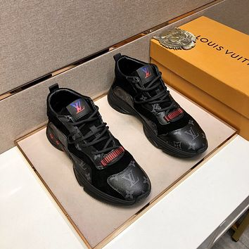 lv louis vuitton men fashion boots fashionable casual leather breathable sneakers running shoes 1030