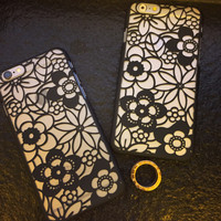 Hollow Out Floral iPhone 6 6s Plus creative case Samsung Gift-94
