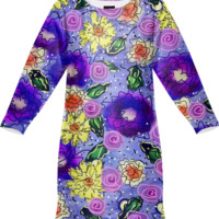Springtime Kisses Sweatshirt Dress created by Artful Sprinkles | Print All Over Me