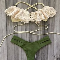 Summer Swimsuit New Arrival Beach Hot Sexy Lace Swimwear Bikini [10016872269]