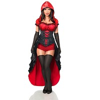 Daisy Top Drawer 5 PC Red Hot Riding Hood Corset Costume
