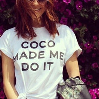 Coco made me do it graphic tee