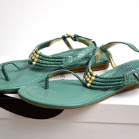 Nine West Apricot Thong Sandal Size 8
