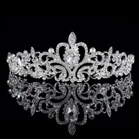 Princess Crystal Silver Tiara Jewelry
