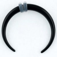 One Acrylic Pincher: 14g Black (SOLD INDIVIDUALLY. ORDER TWO FOR A PAIR.)