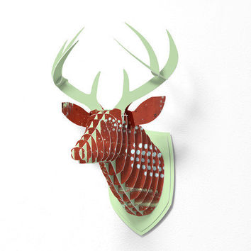 DENY Designs Home Accessories | Madart Inc. Perceived Beauty Pinwheels Faux Deer Mount