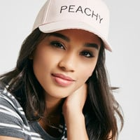 Peachy Embroidered Baseball Cap | Wet Seal