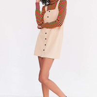 Cooperative Straight Neck Button-Front Mini Dress - Urban Outfitters