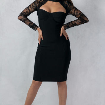 """""""Details on the Sleeves"""" Bodycon Dress"""