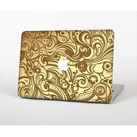The Vintage Antique Gold Vector Pattern Skin Set for the Apple MacBook Air 13""