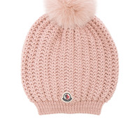 Moncler Berretto Beanie in Light Pink | FWRD