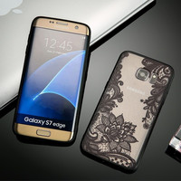 Sexy Lace Floral  Phone Cases For Samsung Galaxy S8 Plus S7 S6 edge Case Fashion Back Cover