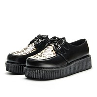 Leopard Printed Vegan Leather Creepers