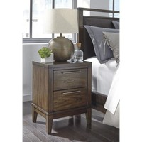B548-92 Zilmar Two Drawer Night Stand - Brown - Free Shipping!