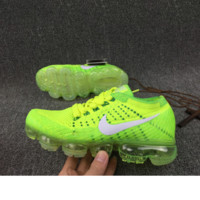 Nike Air Max VaporMax Flyknit Men Women Running Shoes Fluorescent green G-FEU-SY