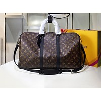 LV New Printed Travel Handbag for Men and Women with Shoulder Straps High-quality