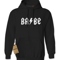 Babe Lightning Bolt Metal Adult Hoodie Sweatshirt