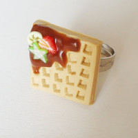Waffle & Fruit - adjustable ring
