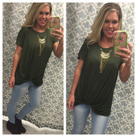 Knotted Top: Olive