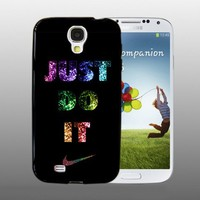 Nike Just Do it Glitters - design for Samsung Galaxy S4 Black case