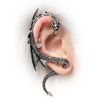 Jade Onlines Dragon Stud Gothic Earring-silver Style