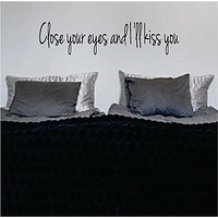 Close Your Eyes Version 2 The Beatles Quote Design Sports Decal Sticker Wall Vinyl