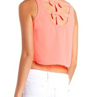 Bow-Back Swing Crop Top by Charlotte Russe