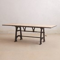 Flatiron Dining Table by Anthropologie Neutral One Size Furniture