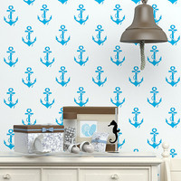 Wall Decal Vinyl Sticker Decals Art Decor Design Set Anchors Symbol Nautical Salior Ocean Sea Living Room Dorm Gift Bedroom (r387)