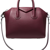 Givenchy - Small Antigona bag in merlot textured-leather