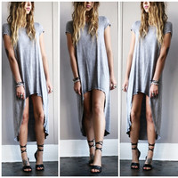 An Acid Wash Faded Tee Dress