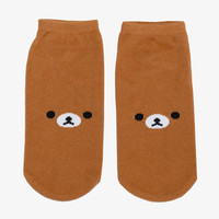Brown Rilakkuma Bear Ankle Socks