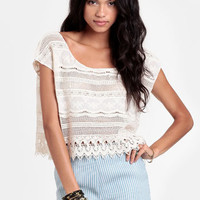 A Softer World Crocheted Lace Top - $32.00 : ThreadSence, Women's Indie & Bohemian Clothing, Dresses, & Accessories