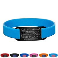 Silicone IDmeBAND Bracelet | Runner Silicone ID Bracelet | Silicone Identification Bracelet | ID Bracelet for Runners