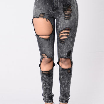 One In A Million Jeans - Black