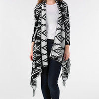 Aztec knitted Cardigan With Tassle - Find Cheap Clothes - Cheap Clothing - Womens £5 Fashion | Missrebel